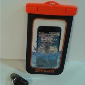 Seawag waterproof phone case black and orange